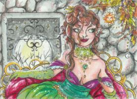 Moonlit Leisure (ACEO) by Keyshe54