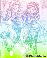 monster high draculaura and frankie stein by sarahthevampireteen