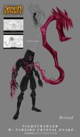 Nightcrawler with Snake by AndyPoonDesign