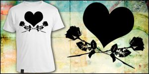 Heart and Roses t-shirt design by mdw-rock