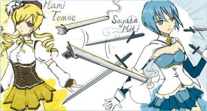 iScribble - Mami Tomoe and Sayaka Miki by super1ucy