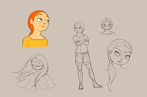 Character Sketch - Alexis Moore by Bonez1925