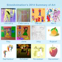 2014 Summary of Art by SirenAnimations