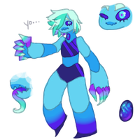 Blue fire opal - Gemsona by Elevera