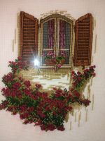 Window With Roses by pgomes68