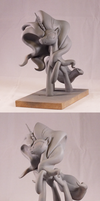 Nightmare Rarity - final sculpt spin by frozenpyro71