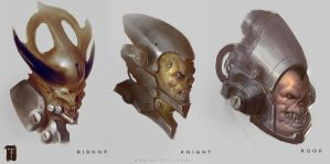 Doom 4 Busts by ArtofTy