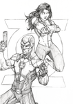 Green Lanterns-Simon Baz and Jessica Cruz by ILBox