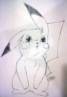 Watching Pikachu by zmorphcom
