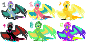 NEW SPECIES ADOPT: PEAHAWKS! OPEN by Banana-Royale