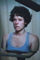 Hyper Real Silicone Sigourney Weaver Bust by SculptorSteven