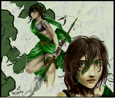Green Girl by Taidine