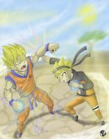 Goku vs Naruto by IvanPacheko