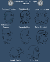 Toontown: Semi-Realistic Lawbot Sketches by Acyrotin