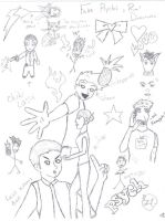 Psych sketch explosion by badwolf-doctor