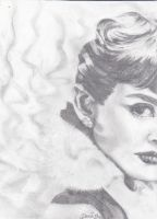 Audrey Hepburn sketch by rainboww-horror