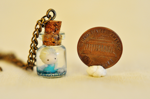 Elsa conjure up a snowstorm bottle charm necklace by wibblequibble