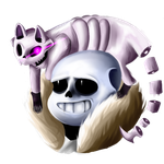 Sans and Ghosti - Comission by Kauu