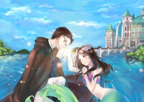 The Prince and Mermaid by hiruna454