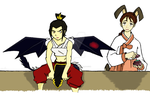 Rabbit-Song and Dragon-Azula by Fire-Lord-Azula