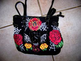 Handpainted Purse for sale (Front) by mandykat
