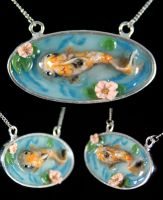 Koi Pond Necklace by NeverlandJewelry