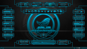 Evolucion(Series) for Rainmeter - Blue Edition by Agelyk
