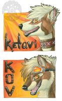 Keovi and Ketavi badges by KatieHofgard