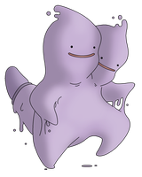 Ditto - Twin Form - by Pokemon-Mento