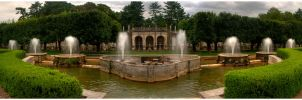 Longwood Fountain Pano by ahedrick201