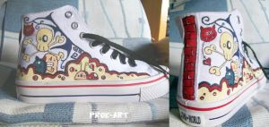 My painted sneakers -1- by prok-art