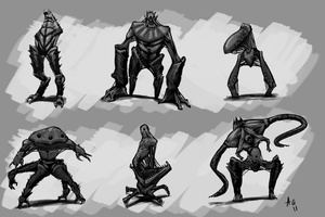 Monster Concepts by Greenstuff-Alex