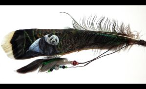 Panda Feather by Psychopomp16