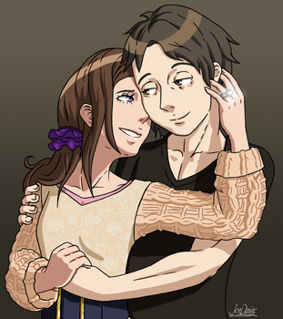 Junpei and Akane by The-Quill-Warrior