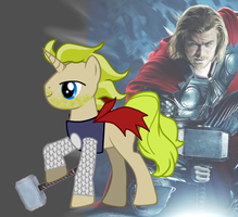 Avengers Ponies - Thor by GraveNil