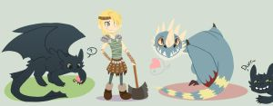 HTTYD - Chibis by Sharezii