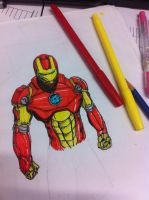 Iron man Quick sketch by dragonite838