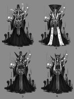 Lich Character Design - Iterations by jeffchendesigns