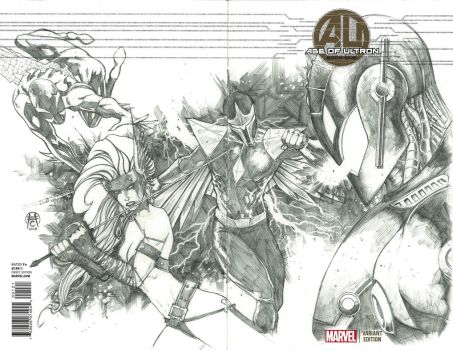 Age of Ultron Sketch Commission by Ace-Continuado