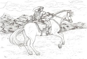 Link on a Horse by Pencil-Bender