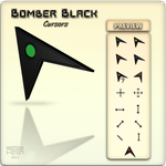 Bomber Black Cursors by m33mt33n