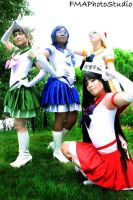 Eternal Sailor Soldiers Inner Team by LilithOya