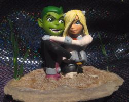 Terra loves Beastboy quicksand by TeenTitans4Evr