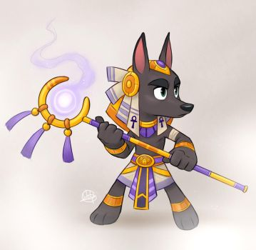 Young Anubis by LuigiL