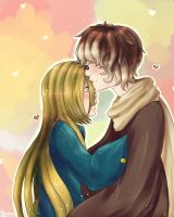Pkmoon:  Forehead Kisses by TheLonelyQueen