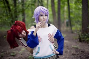 Kokoa Shuzen and Shirayuki Mizore by Djezzi-Li