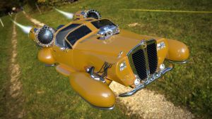 Hover Car flying by aXel-Redfield