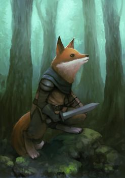 Foxknight by pc-0