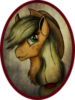 Applejack Portrait by AncientOwl