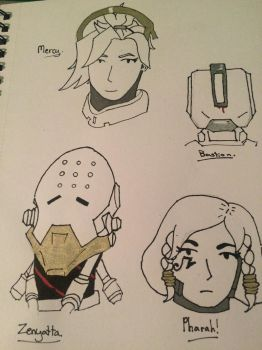 Overwatch doodles part 3 by SoularWolf4